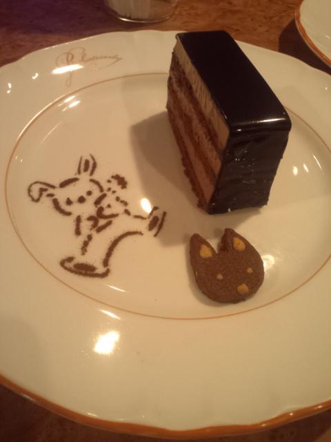 オムライス&チョコレートドリンク